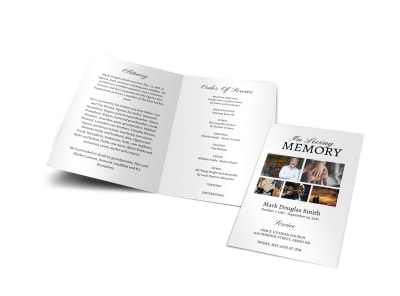 Memorial Service Funeral Bi-Fold Brochure Template xa65m2ewgc preview