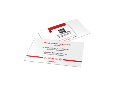 Mail Boxes Etc. Business Card Template preview
