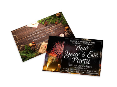 New Year's Eve Party Invitation Card Template h0so7d6bqa preview