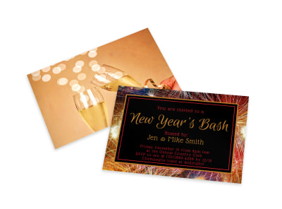New Year's Eve Party Invitation Card Template jklihohkne preview