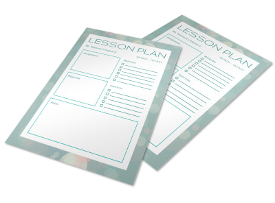 Lesson Plan School Flyer Template rr0hasano6 preview