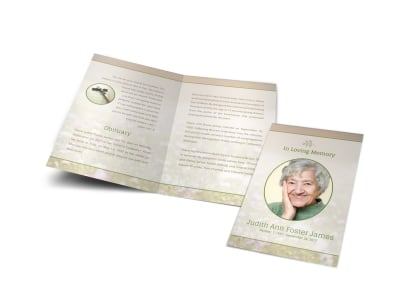 Obituary Funeral Bi-Fold Brochure Template jtqg6dz912 preview