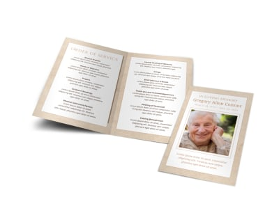 Obituary Funeral Bi-Fold Brochure Template ibxqdk43xq preview