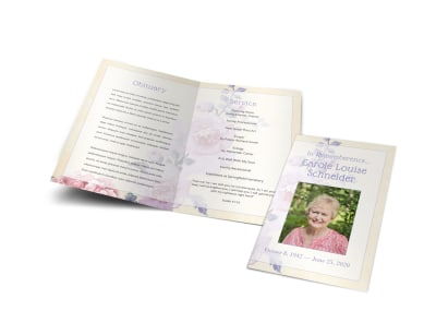 Obituary Funeral Bi-Fold Brochure Template zqcbshpt5v preview