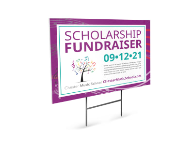 Fundraising Yard Sign Template f3wudn2ln5 preview