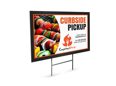 Curbside Pickup Restaurant Yard Sign Template b8d659e4t9 preview