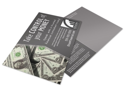 Financial Advisor Postcard Template pky274ni2n preview