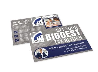 Tax EDDM Postcard Template 5388kh3973 preview