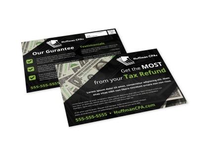 Tax EDDM Postcard Template 2nywfop50s preview