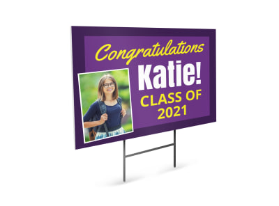 Graduation School Yard Sign Template p9wbrmpaq7 preview
