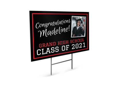 Graduation School Yard Sign Template utqdpbe2sc preview