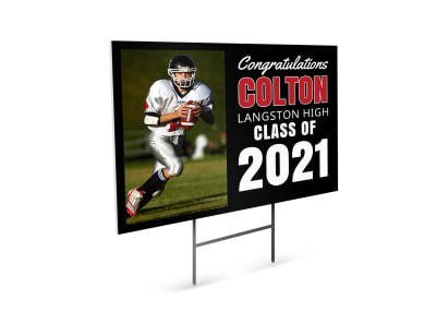 Graduation School Yard Sign Template kax76esz6n preview