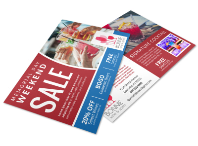 Memorial Day Sale Postcard Template hb1cafojn2 preview