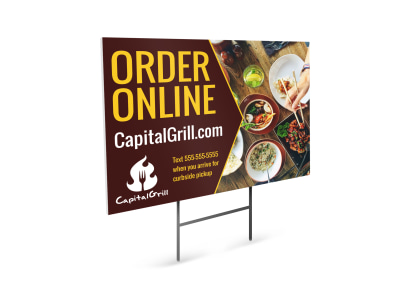 Order Online Restaurant Yard Sign Template ixk67rv4e4 preview
