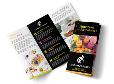 Nutrition Education Tri-Fold Brochure Template e4fey9a88l preview