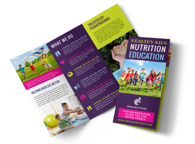 Nutrition Education Tri-Fold Brochure Template whnr2788yo preview
