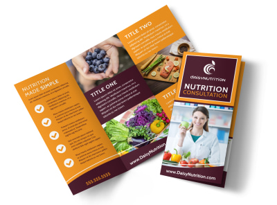 Consultation Nutrition Tri-Fold Brochure Template ut9sx7peg0 preview