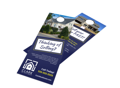 Thinking Of Selling Door Hanger Template t62h666o9v preview