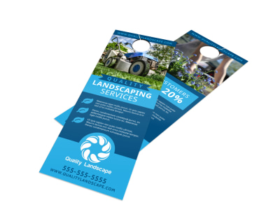 Landscaping Services Offered Door Hanger Template qeo9shiwb8 preview