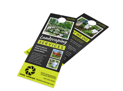 Landscaping Services Offered Door Hanger Template m7exit1z7n preview