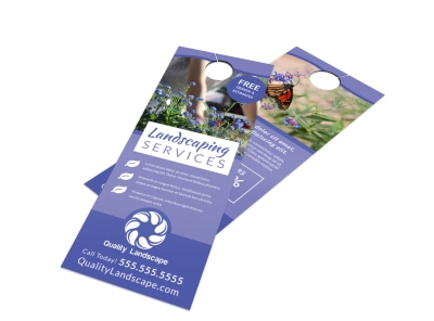 Landscaping Services Offered Door Hanger Template tcme34xuz6 preview