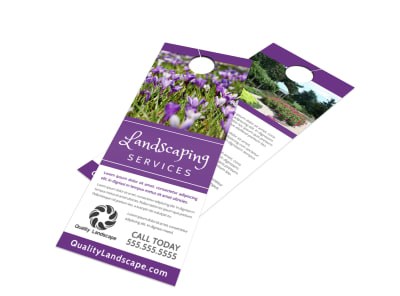 Landscaping Services Offered Door Hanger Template ykmbiqi6xp preview