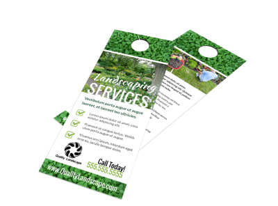 Landscaping Services Offered Door Hanger Template i8h5yn2kfx preview