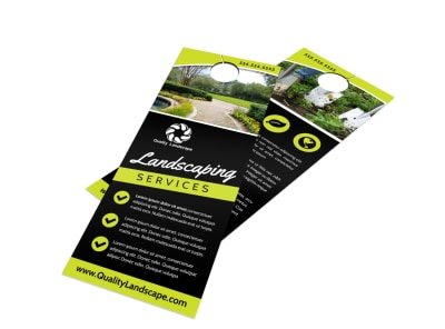 Landscaping Services Offered Door Hanger Template ty7ebxt6l4 preview