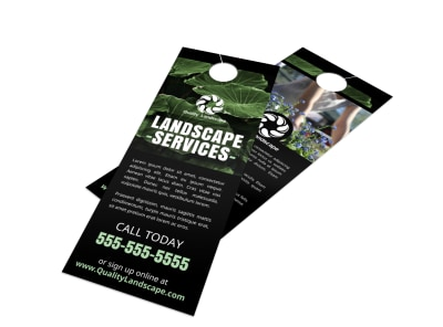 Landscaping Services Offered Door Hanger Template b99jzjzk6n preview