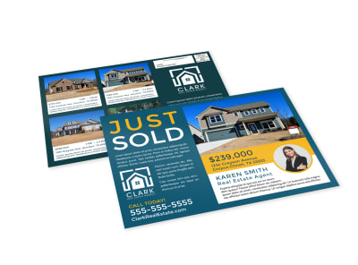 Just Sold Real Estate EDDM Postcard Template faloi3m7ez preview