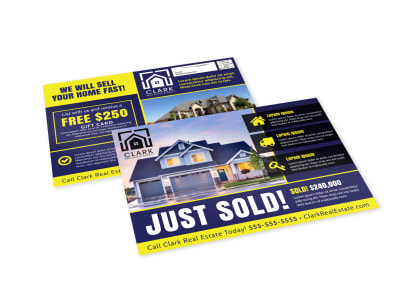 Just Sold Real Estate EDDM Postcard Template aumfje43am preview