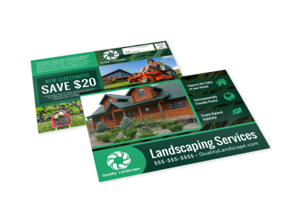 Landscaping Services Offered EDDM Postcard Template h026p6bguv preview