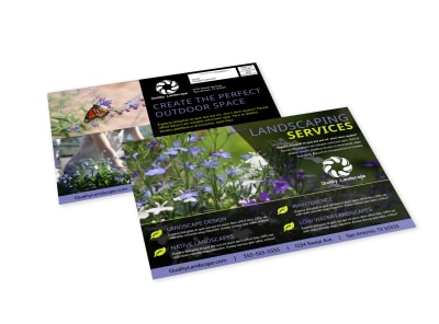 Landscaping Services Offered EDDM Postcard Template wy1acuygee preview