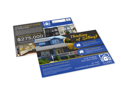 Thinking Of Selling Real Estate EDDM Postcard Template 8s71rfzp5s preview