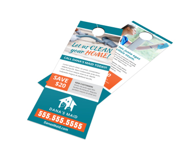 House Cleaning Door Hanger Template msj1aql9kq preview