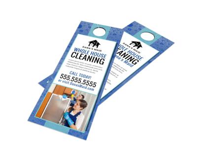 House Cleaning Door Hanger Template lnb9gtffui preview