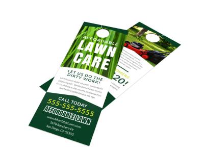 Lawn Care Door Hanger Template uasl66lcmr preview