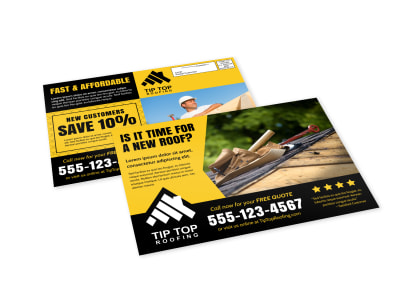 Roofing EDDM Postcard Template 5dpaiu1cp2 preview