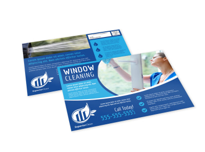 Window Cleaning EDDM Postcard Template uys7reb6qf preview