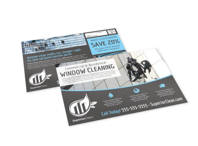 Window Cleaning EDDM Postcard Template m6ktnapxke preview