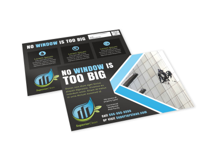 Window Cleaning EDDM Postcard Template jmbsnubwda preview