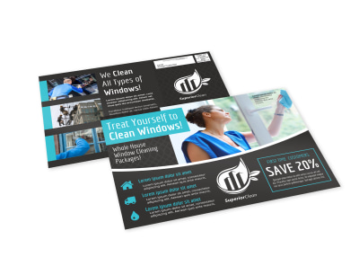 Window Cleaning EDDM Postcard Template 0p6dj826wi preview