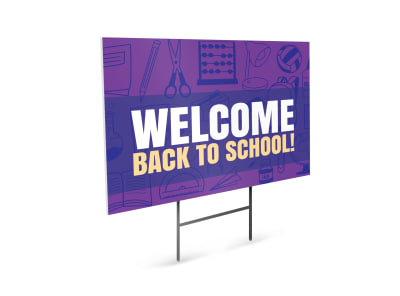 Back To School Yard Sign Template 5kcjzoddyn preview