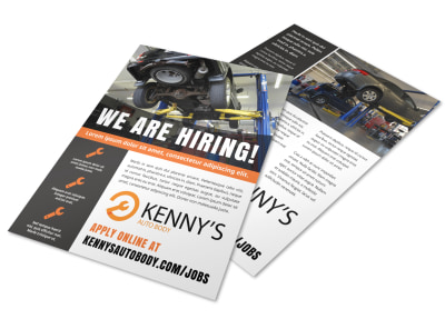 Now Hiring Flyer Template u9padtpwkr preview