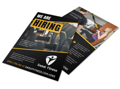 Now Hiring Flyer Template beqqbreuqw preview
