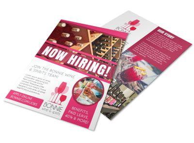 Now Hiring Flyer Template 8526y76p3n preview