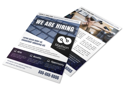 Now Hiring Flyer Template iq6v6w8duf preview