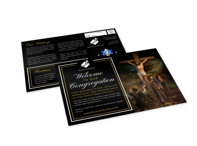 Church Welcome EDDM Postcard Template gfuzf14c3t preview