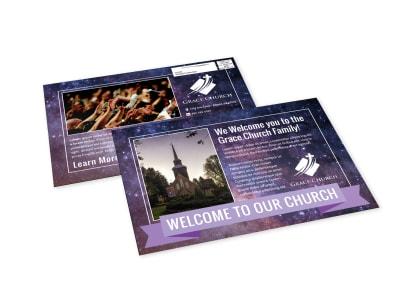 Church Welcome EDDM Postcard Template 1f9hvakjm2 preview