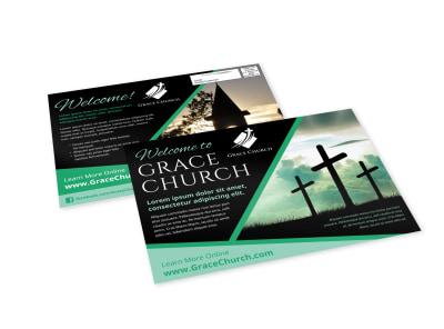 Church Welcome EDDM Postcard Template csc0d8dqd7 preview